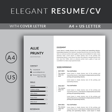 Resume Template, CV Template Professional Resume Template Word, Creative Resume Template