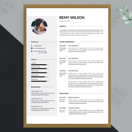 Professional and Creative Resume Template with Cover Letter