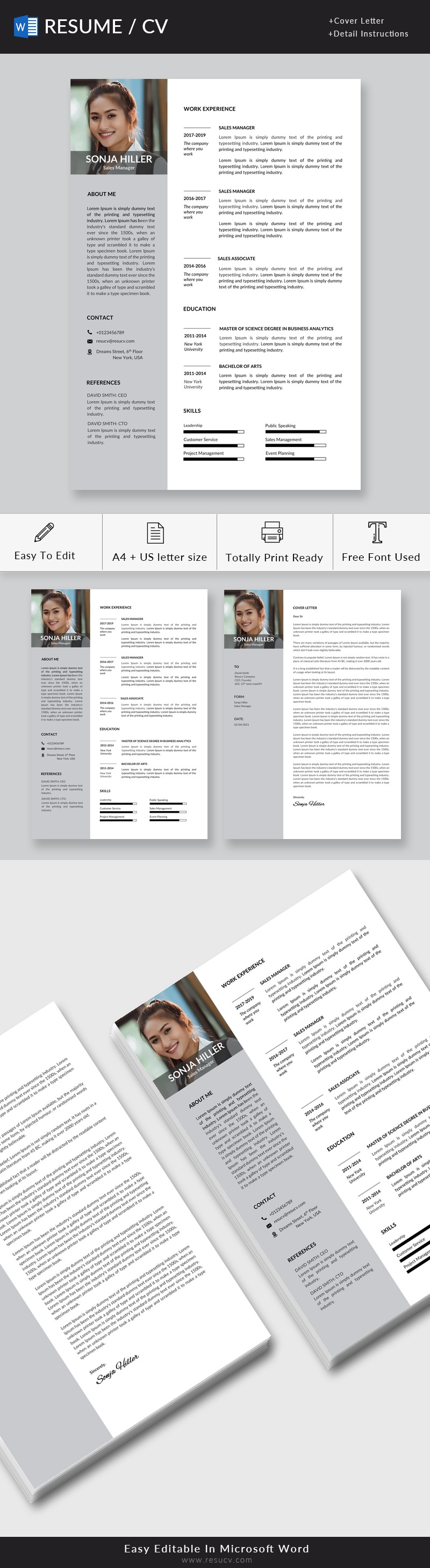 Region Sales Manager Resume Template   Sales Manager Resume Sample   Market Sales Manager Resume Download