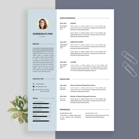 Perfect Cashier Resume Template with Cover Letter