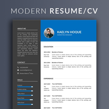 Marketing Manager Resume Template Word, Clean Marketing Manager Resume