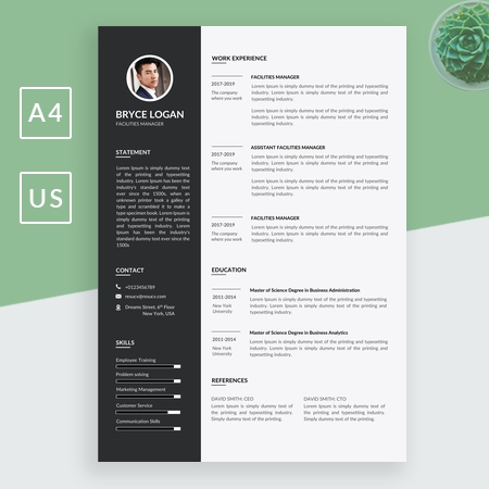 Nice Facilities Manager Resume Template, Friendly Resume Template, Resume Template Word